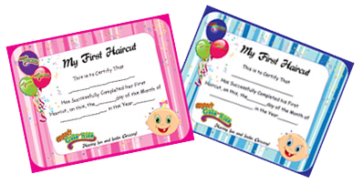 groovy cuts for kids first haircut boy and girls certificates