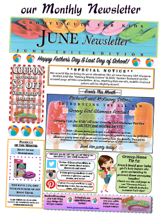 Groovy Cuts for Kids Monthly Newsletter